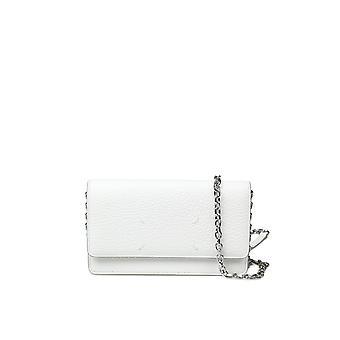 Maison Margiela S56ui0147p0399t1003 Women's White Leather Shoulder Bag