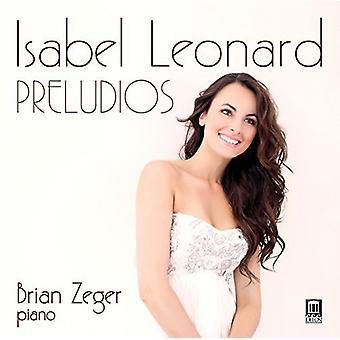 Mompou / Leonard, Isabel / Zeger, Brian - Preludios [CD] USA import
