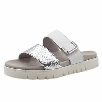 Gabor Euphoria komfortable Metallic Fashion Sandalen In Silber