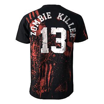 Darkside - zombie killer 13 - mens t-shirt - black
