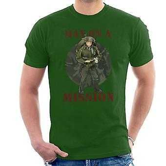 Action Man On A Mission Men's T-Shirt