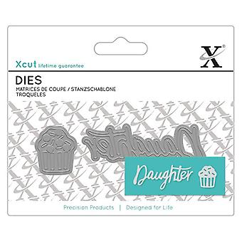 Xcut Mini Sentiment Die (2pcs) - Daugther (XCU 504109)