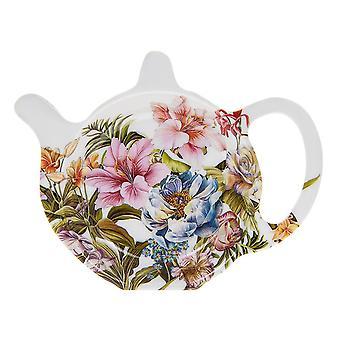 Lily Rose Vintage Bloemen - Melamine Gebruikte Theezakje Netjes