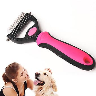 One/double Side Hair Removal Comb For Dogs Cat Detangler Fur Trimming Brush