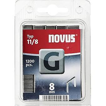 Platte draad nietje G 11/8 (1200 St) 1200 PC('s) Novus 042-0385 Clip Typ 11/8 afmetingen (L x W) 8 x 10,6 mm
