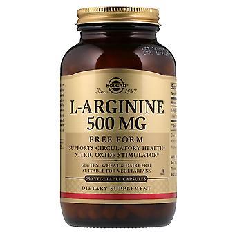 Solgar, L-Arginina, Forma Libera, 500 mg, 250 Capsule Vegetali