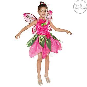 Waldfee Kinder Märchen Kostüm Fee Elfe Karneval 2-teillig mit Flügeln