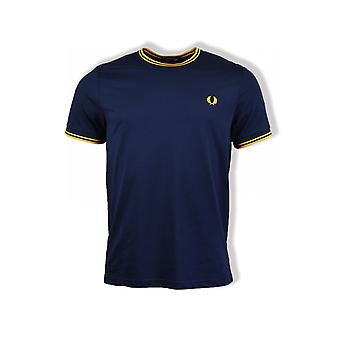 Fred Perry Twin Tipped T-Shirt (Carbon Blue)