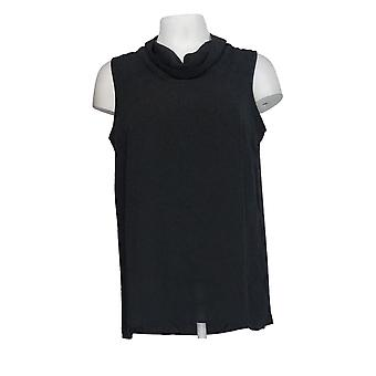 Brooke Shields Women's Top Sleeveless Woven Back Tie Black A306911
