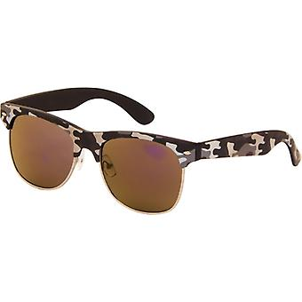 Sunglasses Unisex camouflage grey with mirror lens (AZB-24)