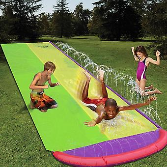 4.8m Giant Surf 'n Double Water Slide Lawn Water Slides- Summer Pool Kids Games Fun Toys Backyard Outdoor Wave Rider For Children