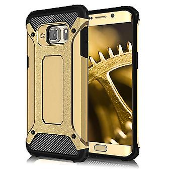Shell for Samsung Galaxy S6 Edge Armor Gold Protection Case