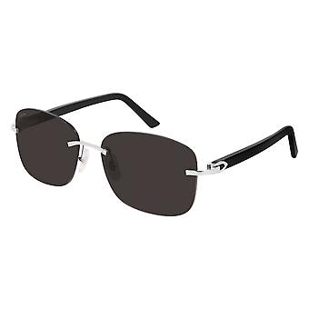 Cartier CT0227S 001 Silver/Grey Sunglasses