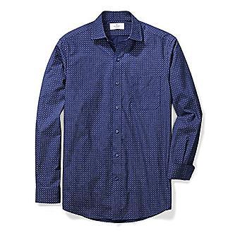 BUTTONED DOWN Men's Classic Fit Supima Coton Spread-Collar Pattern Non-Iron ...