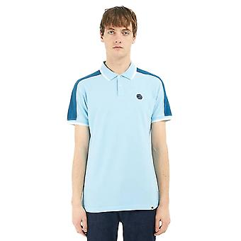 Pretty Green Scotia Contrast Panel Tipped Polo Shirt - Blue