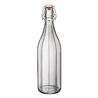 Bormioli Rocco Oxford Table Serving Water Bottle with Swing Top Lid - 1 Litre