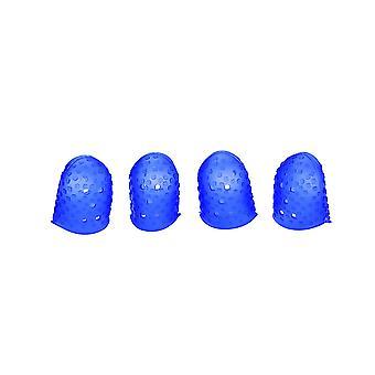 Silikon Gitarre Finger Picks Protector Fingertip Protect Caps M Blau