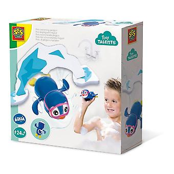 SES Creative Children's Tiny Talents Polo Swimming Penguin Bath Toy Blue/White
