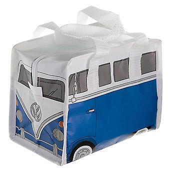 VW autocaravana T1 bolsa de almuerzo azul / blanco, impreso, 100% plástico.