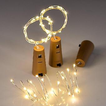 Led String Lamper Vin Bottle Prop Light Cork Formet til fest bryllup dekoration