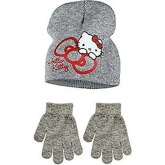 Hello kitty girls hat and gloves set hk974hg