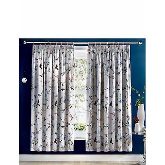 "Chums Mansfield Floral and Flying Bird Curtains (66""W x 72""D)"