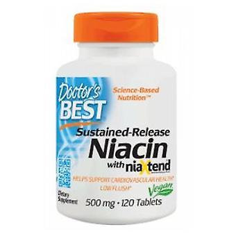 Lääkärit Paras kestävä Niasiini Niaxtend, 500 mg, 120 Tabs