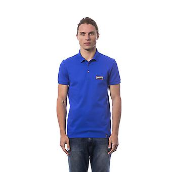 Roberto Cavalli Sport Geenio Royal Blue Patched Polo