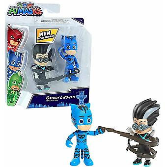 PJ masks 2 pack figure set - series 2 - catboy & romeo