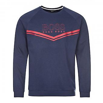 Hugo Boss Authentic Crew Neck Sweatshirt Loungewear Navy Blue 50436638