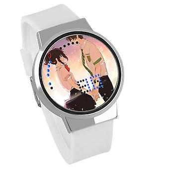 Waterproof Luminous LED Digital Touch Children watch  - Your Name #7