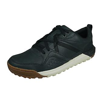 Merrell Indeway Leather Mens Trainers / Shoes - Black
