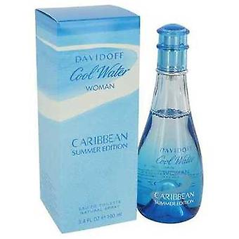Viileä vesi Karibian kesän Davidoff Eau de Toilette Spray 3,4 oz (naiset) V728-541786