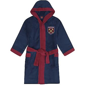 West Ham United FC Dressing Gown Robe Mens Fleece - OFFICIAL Football Gift