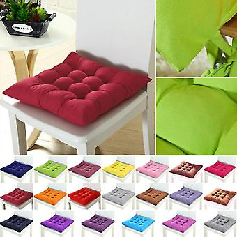 Soft Solid, Thick Square Seat Cushion For Office, Restaurant, Household