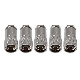 5 piezas N abrazadera macho macho para RG8 RG165 Conector de cable N-J-7 41MM Longitud