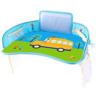 Plateau multifonctionnel de siège de sécurité de voiture de dessin animé enfants imperméables de poussette