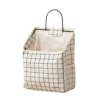 Lattice Hanging Storage Bag Bedside Storage Organizer - Dorm Room Phone Book