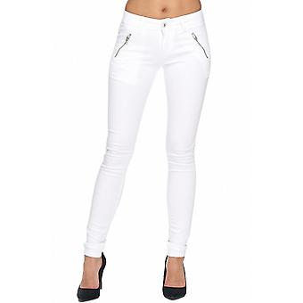 Ladies Slim Jeans Sexy Pants Tube Jeans Stretch Skinny Hipsters Tube Zipper