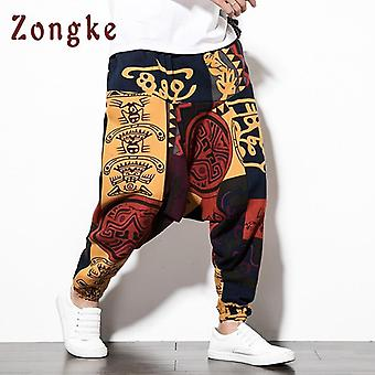 Chinese National Style Cross-pants Men Loose Hip Hop Trousers