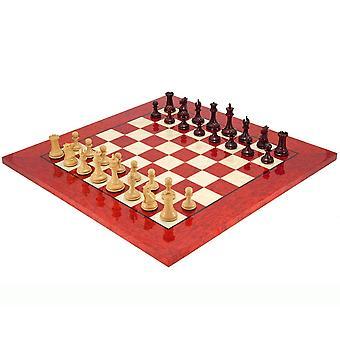 Valtion punainen santelipuu ja Erable Luxury shakkinappulat