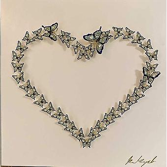 Heart Of Love And Life Wall Art White