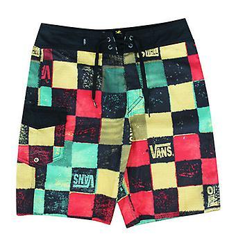 Vans Off The Wall OTW Black Patterned Polyester Boys Kids Shorts V1L424B A7C