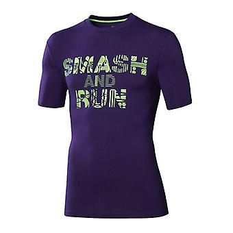 Asics Smash & Run Sport Fitness Short Sleeve T Shirt Top Hommes 121297 0245 A7B