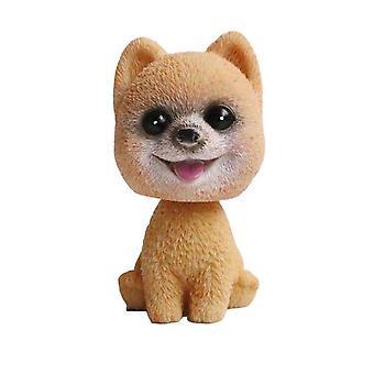 Bobble Head Dog Car Ornaments Swinging Toy