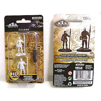 Dungeons & Dragons Wizkids Deep Cuts Unpainted Miniatures Guards (Pack of 6)