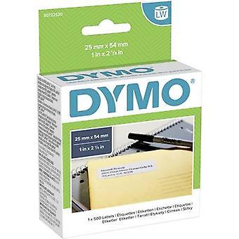 DYMO Label roll 11352 S0722520 54 x 25 mm papper vit 500 PC (s) permanenta etiketter för alla ändamål