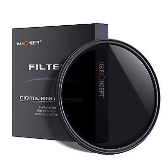 Koncept K&f 77mm tenký nastaviteľný nastaviteľný fader nd2 nd4 nd8 až nd400 filter objektívu+