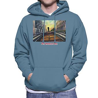 An American Tail Fievel Mousekewitz Walking On Train Track Men's Hooded Sweatshirt