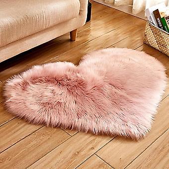 Rakkaus sydän matot keinotekoinen villa karvainen matto faux lattia matto